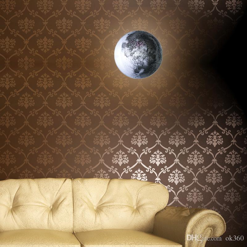 Kapalı Sanat Odası Kid Bedroom için Şifa Süper Ay Night Lights Ay Bebek Işık Rahatlatıcı Uzaktan Kumanda ile LED Ay Duvar Lambası