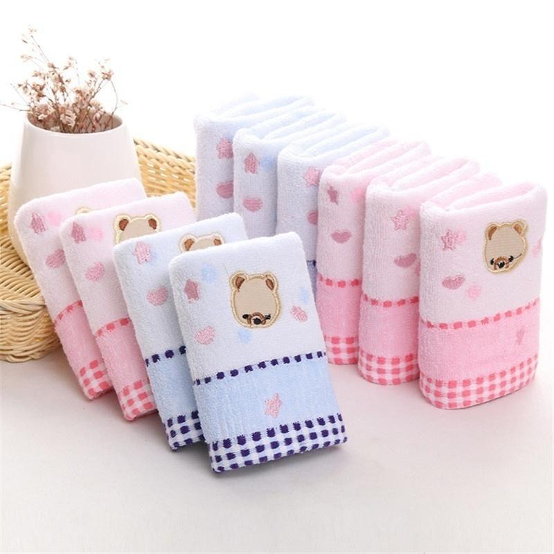 Newcomdigi 25x50cm Cute Baby Bath Cotton Towel Cotton Jacquard ...