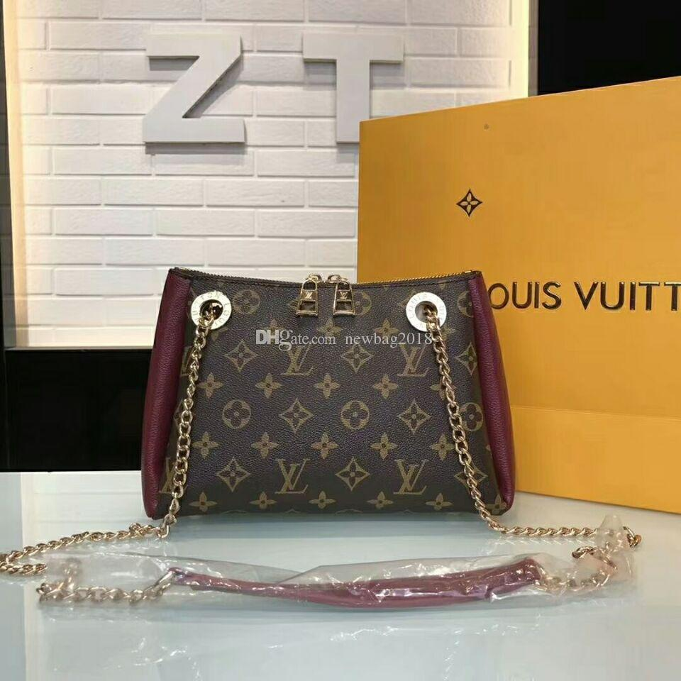 373cc759398 Selling 2018 New Women Single Shoulder Bag Luxury Fashion Handbag Brown  Letter Designer Bags Wallet Cosmetic Bag L-V13 Single Shoulder Bag Handbag  Bag ...