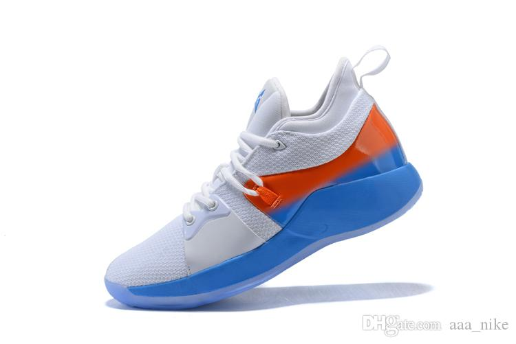 658df35d25f 2019 2018 High Quality Paul George 2 PG II Basketball Shoes For Cheap Top  PG2 2S Starry Blue Orange All White Black Sports Sneakers Size 40 46 From  Aaa nike ...