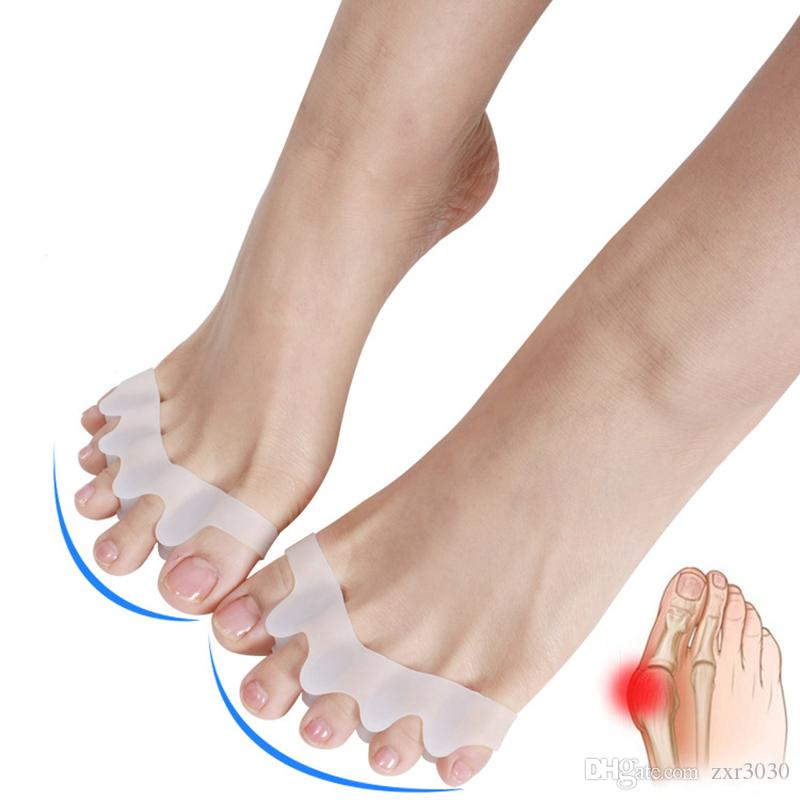 1 Par Toe Separator Hálux Valgo Toes Separação Toes de Separação de Reabilitação Corretiva Ortopedia Cinco Furos ferramentas de unhas