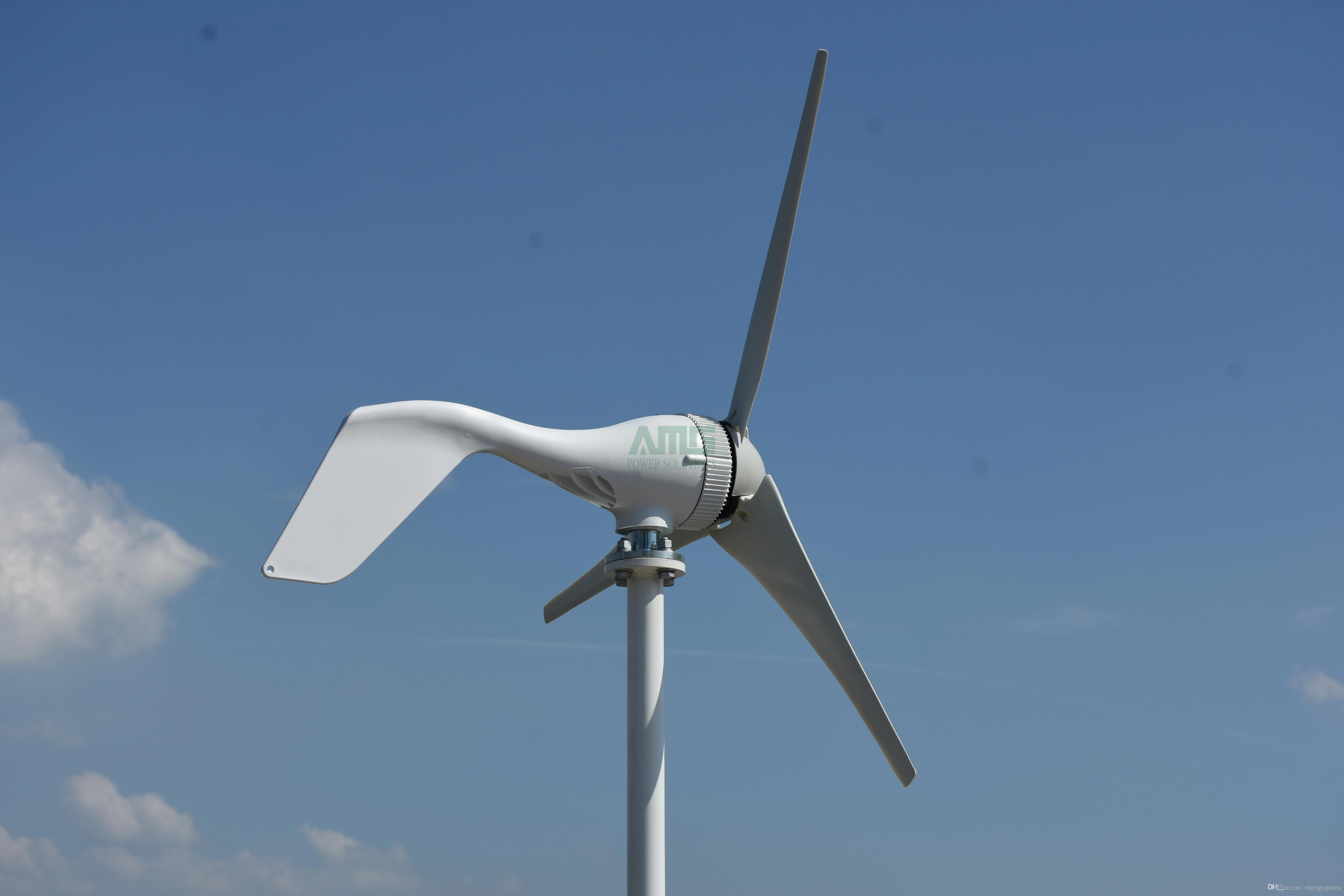 Hot selling 400w small wind turbine 3 blades optional with boost  controller,fit for home boats streetlights