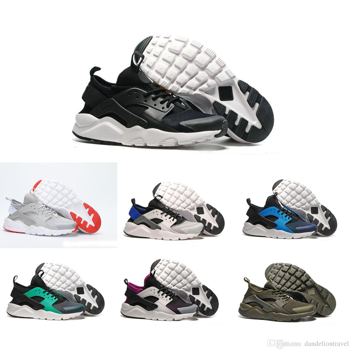 the latest b4fea cd9bc Acquista With Box Nike Air Huarache 1 2 3 I II III Scarpe Da Corsa Air  Huarache Ultra Triple Bianco Nero Huraches Scarpe Da Corsa Running Uomo  Donna Scarpe ...