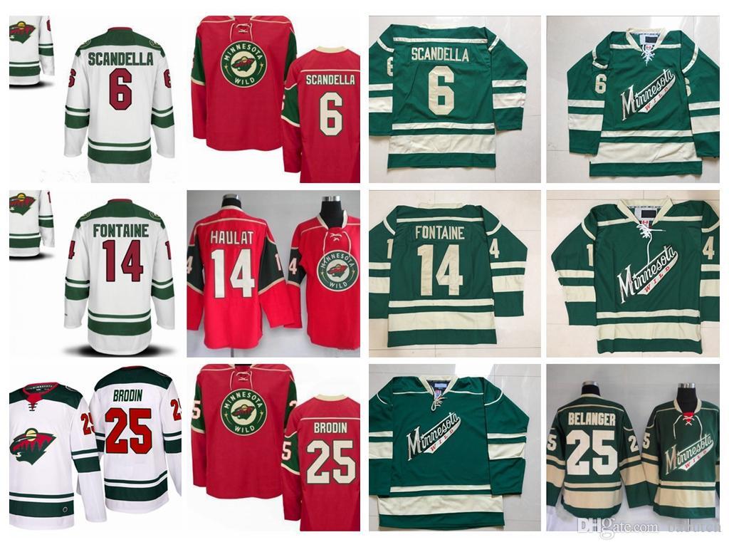 ... low price 2018 minnesota wild hockey jerseys 6 scandella 14 justin  fontaine 15 brunette 25 jonas e37650341