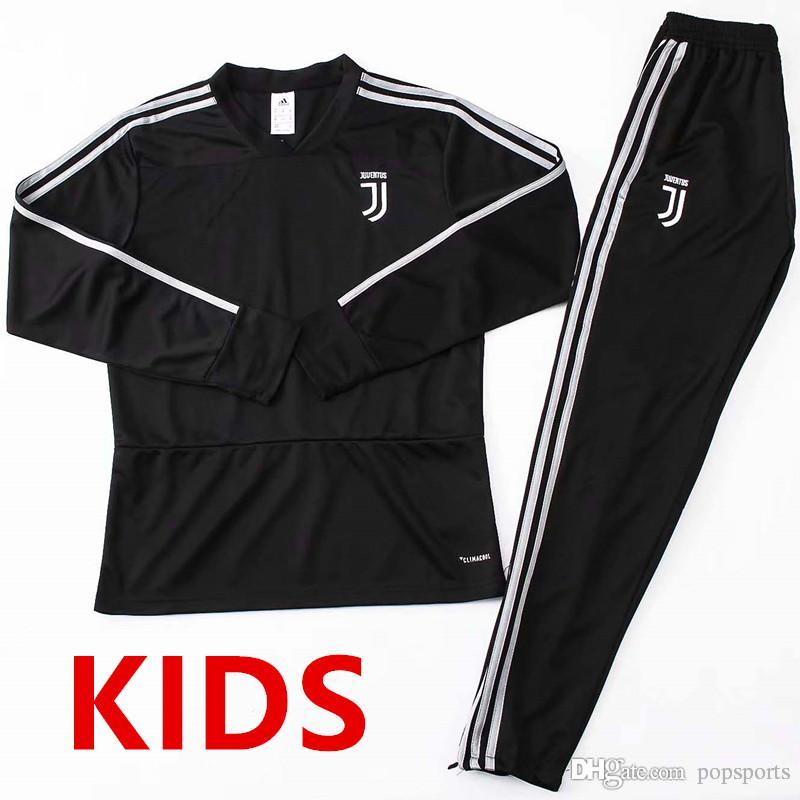 online store cd6ce 08cb5 kids kit 18 19 Juventus Training suit de foot Chandal 2018 2019 DYBALA  MANDZUKIC BUFFON tracksuit sweatshi Beige Sweater With Pants