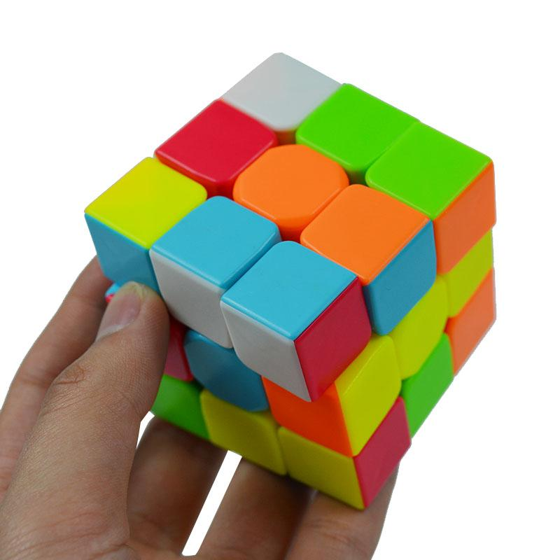 Puzzles & Games New Mini Slider Cube Magic Tower Colorful Magic Speed Puzzle Cube Fidgets Cube Creative Keychain Classic Toys For Kids Children