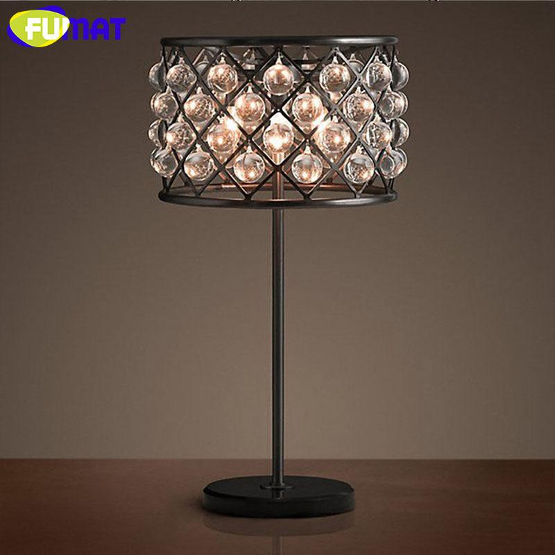 Beautiful 2018 Wholesale Vintage Crystal Table Lamp Iron Table Light Desk Lamp Led  Light Bedside Lamp For Living Room Bedroom Study From Tengdinglamp, ...