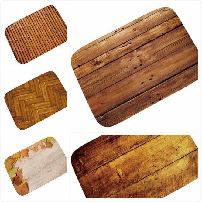 Miraculous 2018 New Old Wooden Floor Kitchen Floor Carpets Door Mat Bathroom Non Slip Cushion Suit Bedroom Mat Carpet For Rugs Doormat Interior Design Ideas Clesiryabchikinfo