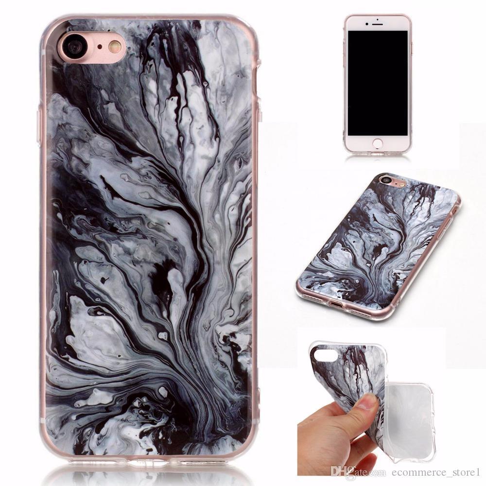 iphone 5s 5 SE 6 6s 8 6/7/8 더하기 X 화강암 스크럽 대리석 스톤 이미지 아이폰 7 경우에 대 한 실리콘 전화 케이스를 그렸습니다.