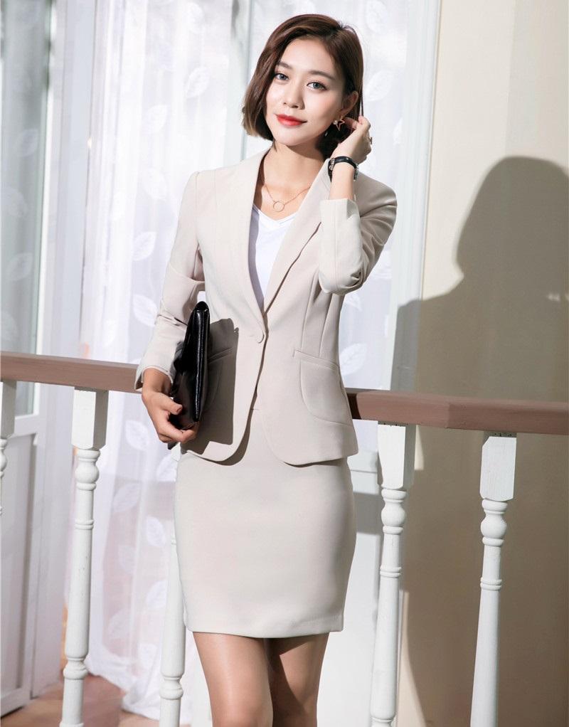 2019 Wholesale New Style Office Uniform Designs Women Skirt Suits