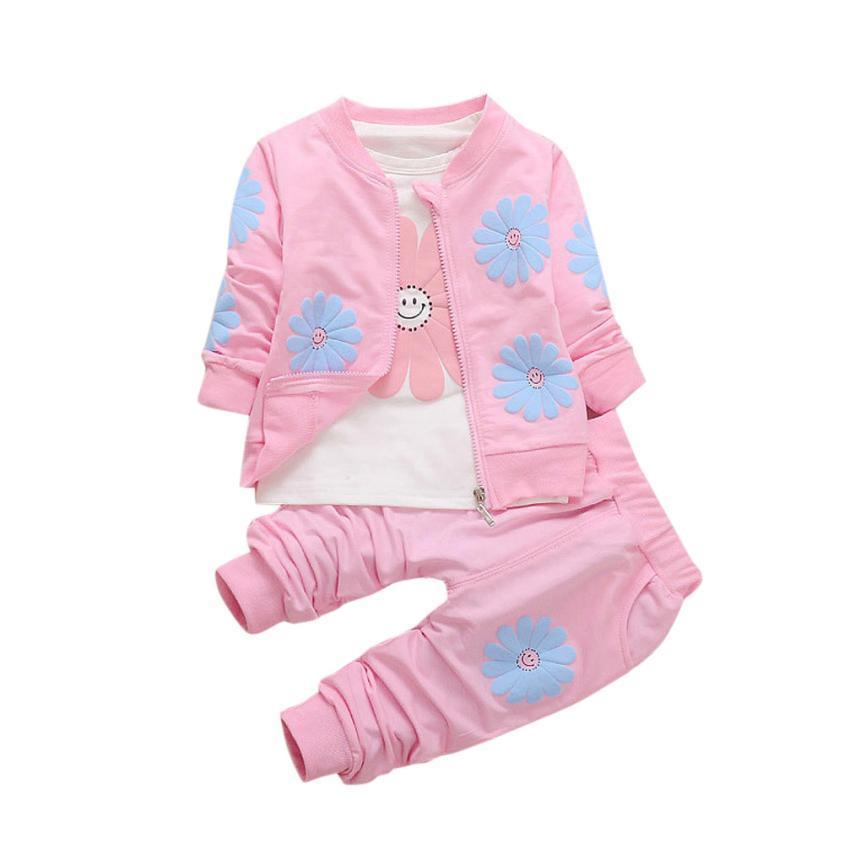 a20567c93c35 Baby Girls Clothes Set Toddler Girls Clothing Kids T-shirt+ Pant ...
