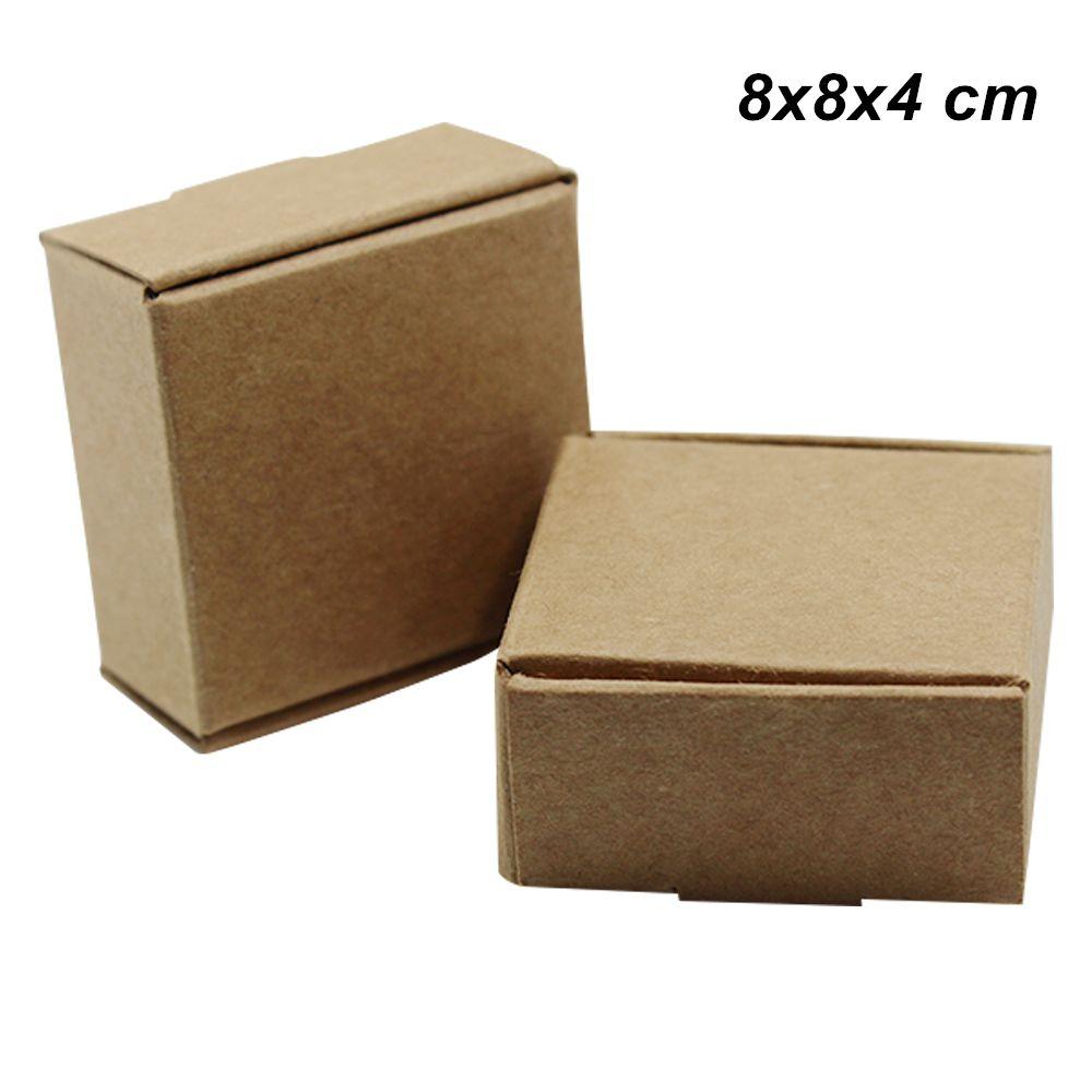20pcs Rectangle Lace Style Cardboard Box Kraft White Paper Box Gift Package Box