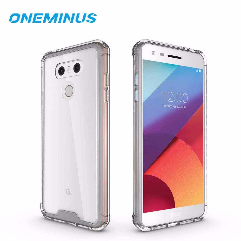 OneMinus Shock-resistant Case for LG G6 Cover Crystal Transparent Hard back  Phone Cover for G6 g 6 clear Case for G7 Thinq G 7