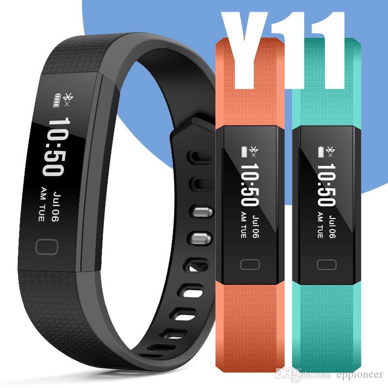 47b95151b365f Celulares Doble Sim Y11 Banda Inteligente Pulsera Reloj De Ritmo Cardíaco  Actividad Rastreador De Ejercicios Pulse Relógios Reloj Inteligente PK  Fitbit ...