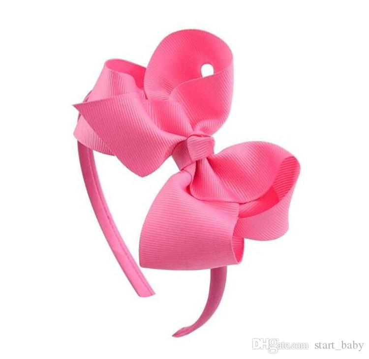 4 inch Infants Hair Hoop Ribbon Bow Hair Sticks for Girls Fashion Kids Baby Double Bows Headwear Hairs Accessories INS B11