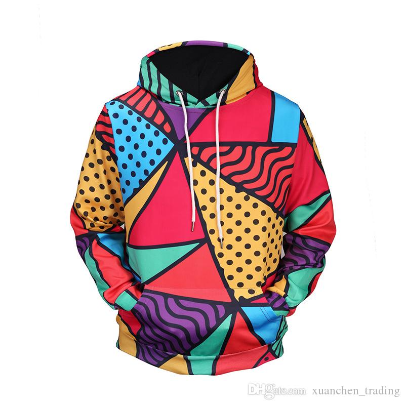 4b9b21e3c594 2019 3D Printed Hoodies Men Women Hooded Sweatshirts Colorful Harajuku Pullover  Pocket Jackets Brand Quality Outwear Tracksuits From Xuanchen trading