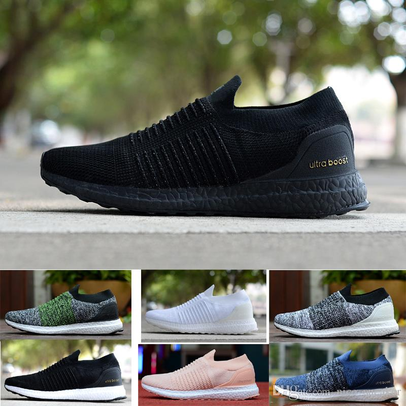 5f9339b179ef2 Nice Ultra Laceless Core Triple Black White Primeknit Runner Fashion Running  Sneaker Sports Shoes For Men Women Eur36 45 Best Shoes For Running Sports  Shoes ...