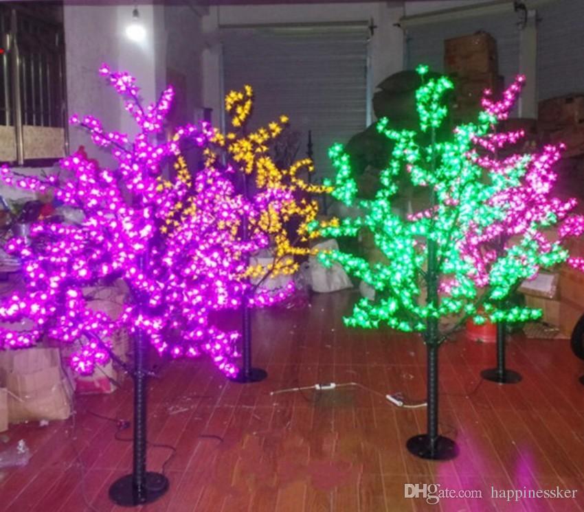 LED de Natal LED Cherry Blossom Tree Luz Lâmpadas 1,5 m Altura 110 / 220V 7 Cores para Opção Uso Rainproof Outdoor