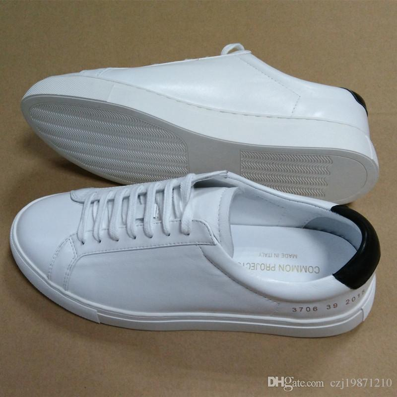 Common Projects by women Black white low top Shoes Men Women Genuine Leather Casual Shoes flats Chaussure Femme Homme recommend cheap price cheap real eastbay sale clearance discount the cheapest BfLPW