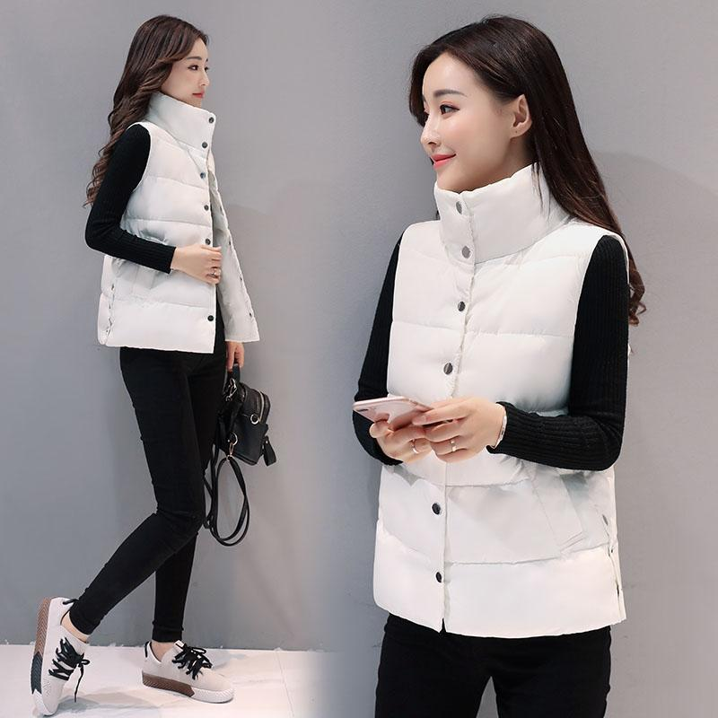 2017 Autumn and Winter Models Jackets Waistcoat Female Sweaters Vests with Pockets Stand Up Down Waistcoat Short Section Vest