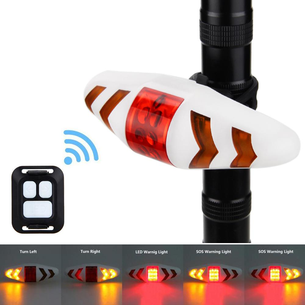 Smart Wireless Remote Control Bicycle Seat Light Bike Tail Lamp Mount LED Warning Taillight Turning Control Signal Rear Light