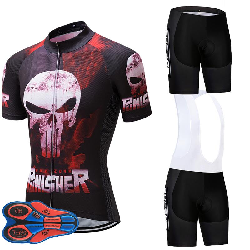 f435b0f02 Pinisher UCI Team Cycling Jersey 9D GEL PAD Bike Shorts Set MTB Mens ...