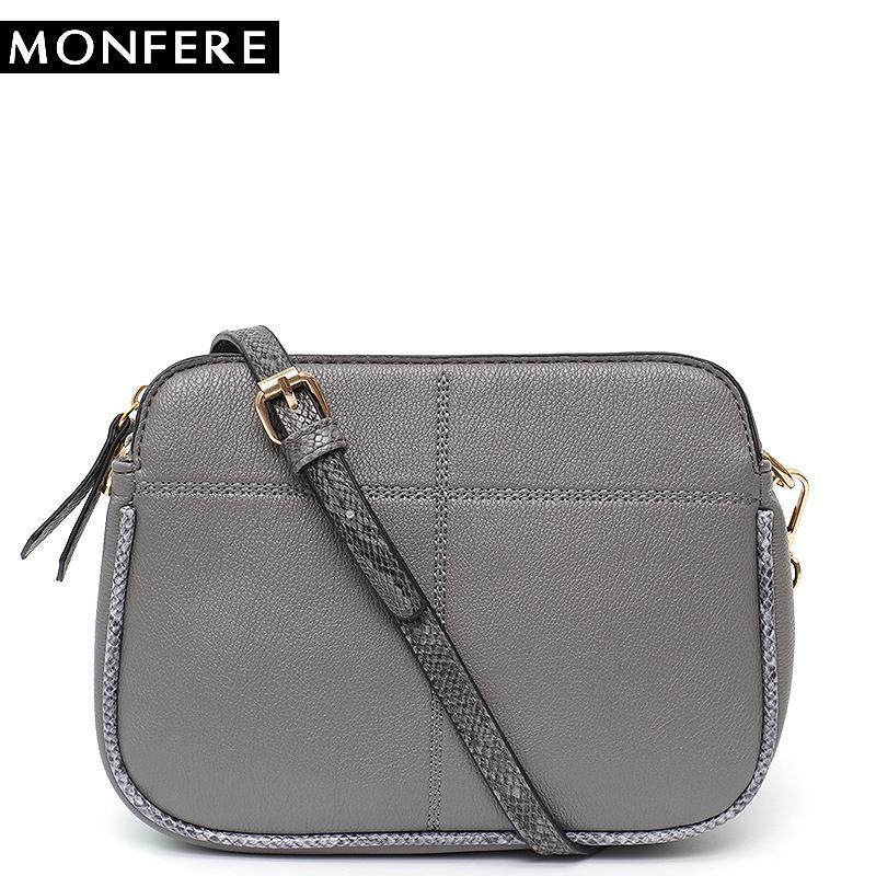 0430cfa07725 MONFERE Fashion Women Handbag Vegan Leather Messenger Bag Ladies ...