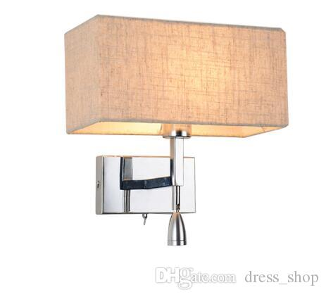 Lights & Lighting Brilliant Modern Led Wall Lamp Copper Loft Decor Living Room Corridor Bedside Study Wall Lamps Cloth Art Lampshade De Wall Lights For Home