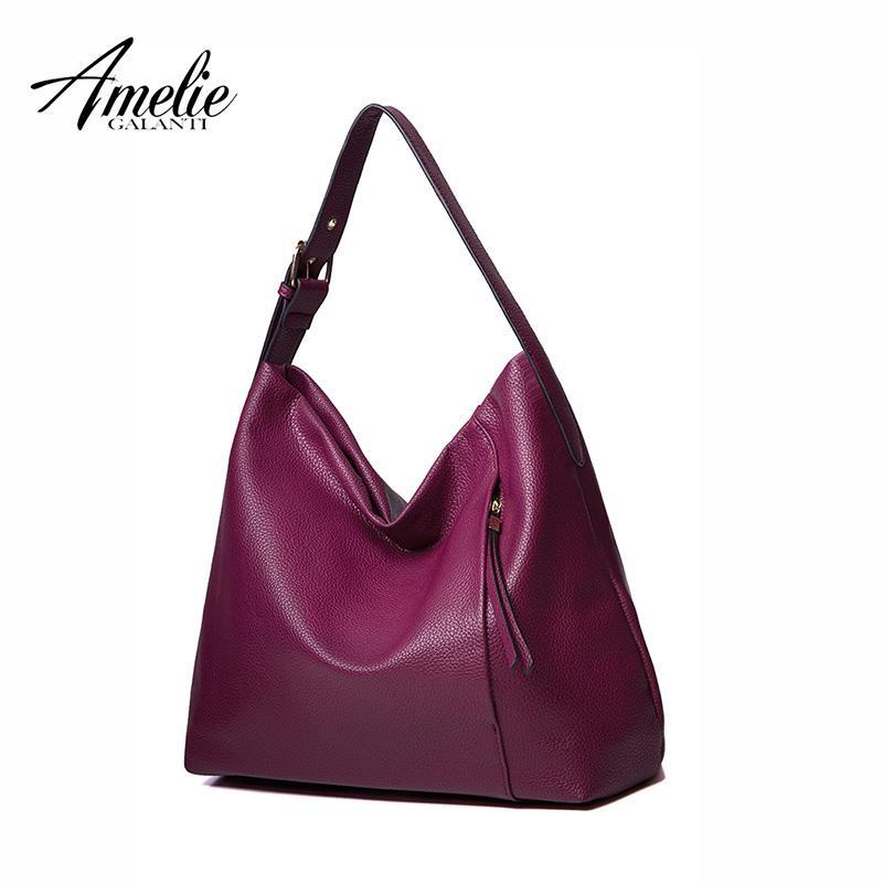 86ac15fb19 AMELIE GALANTI 2016 New Fashion Women Half Moon Bag Shoulder High Quality  PU Socialite Many Color Famous Brand Handbags Brand Handbags Fashion Brand  ...