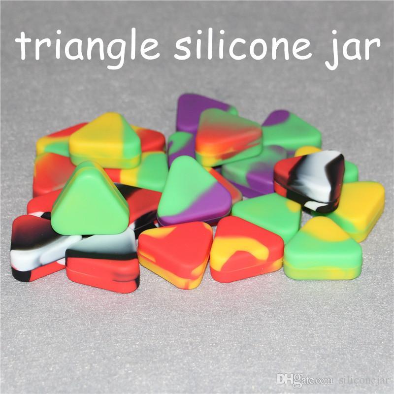 도매 삼각형 실리콘 왁스 컨테이너 유리 실리콘 오일이 적셔 항아리 미니 실리콘 오일 굴착 실리콘 봉 수도관을 1.5ml 릭