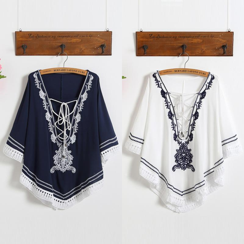 42e6cb7b920c4 2019 2018 Summer New Maternity Blouses Women Tops Embroidery Skirts Clothes  For Pregnant Women Pregnancy Clothing Maternity Blouses From Namenew
