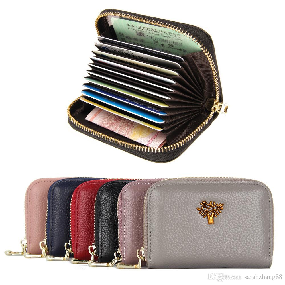 newest collection ae787 ea4cb Women s Credit Card Case Wallet Zipper Card Holder Purse with RFID Blocking  Small Accordion Wallet