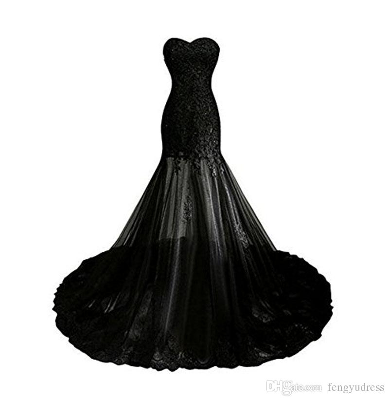 New Arrivals Women's Sweetheart Tulle Lace Elegant Evening Dress Prom Mermaid Gown Strapless Special Occasion Dresses