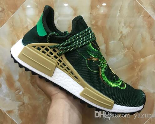 sneakers for cheap 5a48d 626ef Popular Men s Pusha T Unveils Pharrell Hu Friends Training Sneakers,Human  Race Trail Holi Stripes endorser compatriot Pusha T. Running Shoes