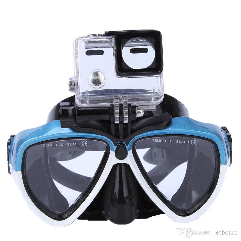 54e45cfe80aa 2019 Camera Mount Go Pro Scuba Diving Mask Swimming Underwater Goggles Mask  For GoPro Hero 2 3 3+ 4 5 From Jetboard