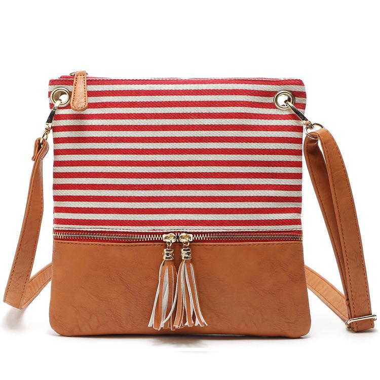 fab8472f2 Best Selling Canvas Single Shoulder Bag Simple Tassel Design Casual Fashion Cross  Body Lady Wholesale Women Leather Pack Bag Satchel Laptop Bags From ...