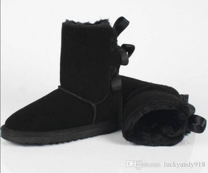 2432e8a7756 Winter Australia UGG Classic snow Boots Quality tall boots real leather  Bailey Bowknot women's bailey bow Knee Boots shoes #280