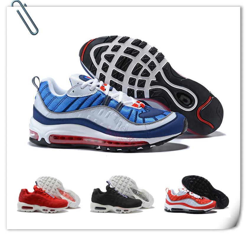 2018 Top Quality Mens Sports 95 98 Running Shoes Black White Men Best  Athletic Walking Tennis Shoes Grey Man Training Sneakers Eur 40-46 95 Running  Shoes ...
