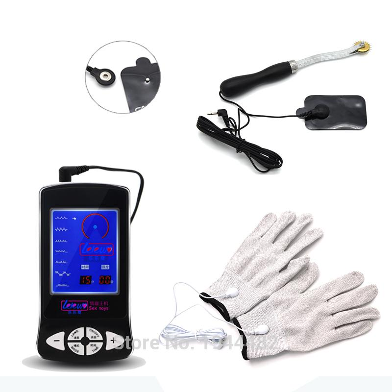 Electro Sex Kit Electric Massage Stimulate Gloves Electro Sex Toys For Men  Conductive Gear Wheel Estim Shock TENS For Women Y18110801 Play Games Free  Sims ...