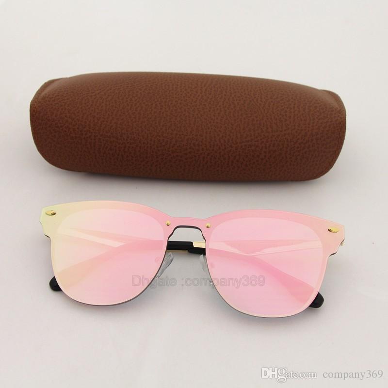 Top lunettes de soleil de qualité pour Femmes Mode Vassl Marque Designer Or Cadre En Métal Rouge Coloré Lunettes de Soleil Lunettes Come Come Brown Box