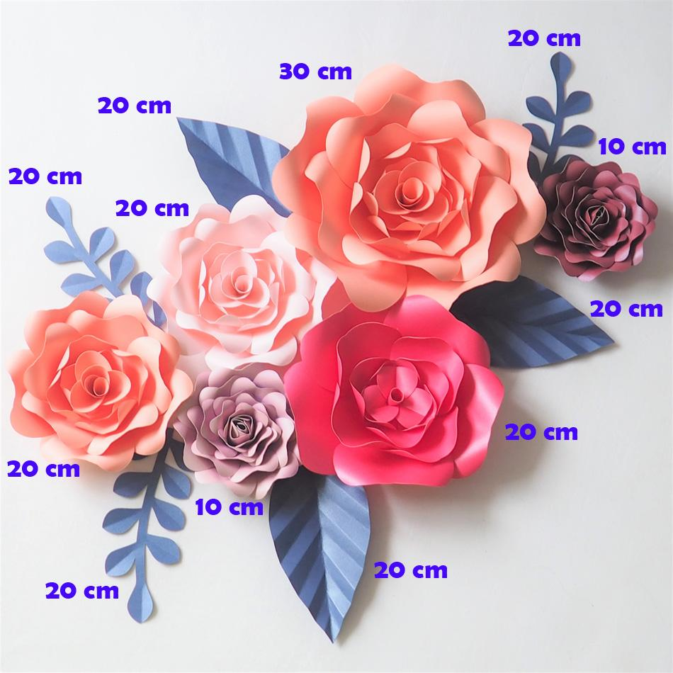 2018 diy craft supplies artificial flowers fleurs artificielles 2018 diy craft supplies artificial flowers fleurs artificielles backdrop giant paper flowers 6 leave wedding party decoration living room from mightylinksfo