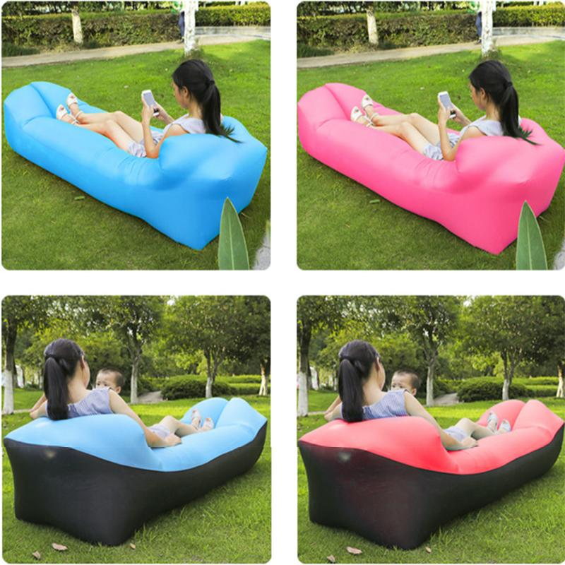 Sports & Entertainment New Sale Inflatable Lounger Chair Air Lounger Inflatable Bag Fast Inflate Air Sofa Sleeping Bed For Travelling Camping Park Hi To Have A Unique National Style Sleeping Bags