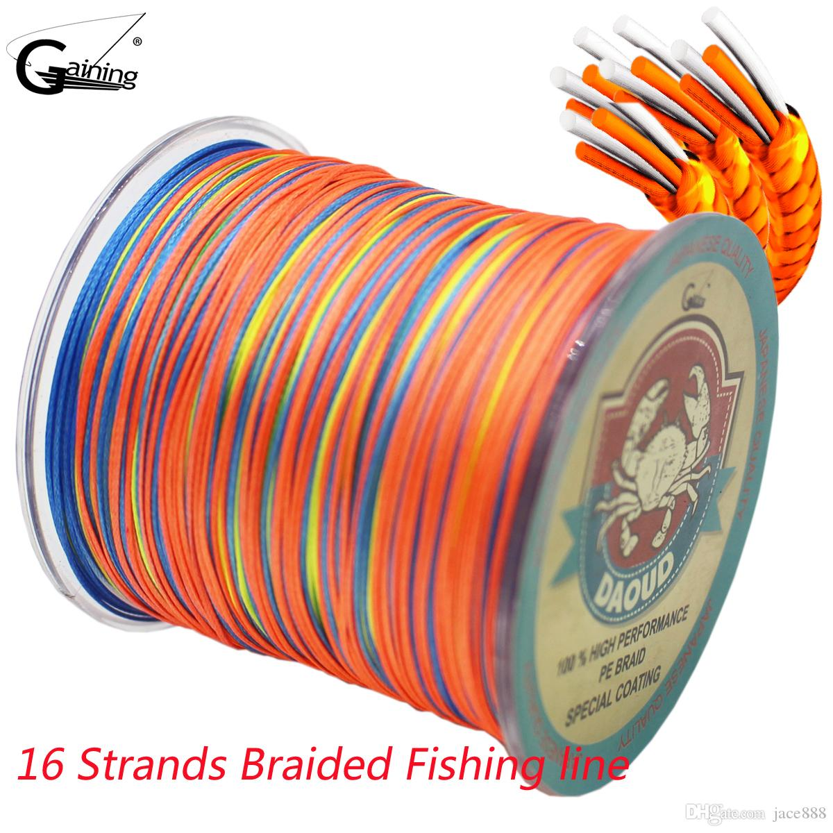 Braided Fishing Line 300M 16 Strands Multicolor Super Power Japan ...