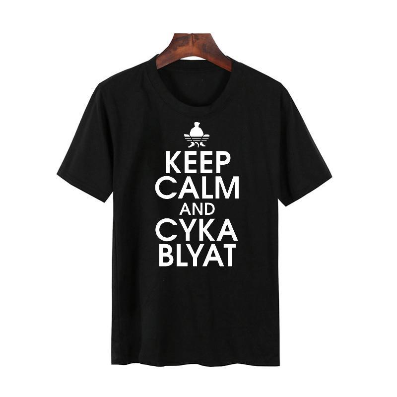 2018 men s t shirt russian gamer cyka blyat rush b cs go funny artsy