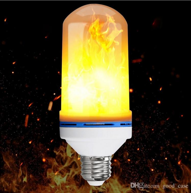 E27 led flame bulb effect fire light bulbs flickering emulation e27 led flame bulb effect fire light bulbs flickering emulation decorative corn flame lamps lights lighting for home party decoration sale led lighting led aloadofball Image collections