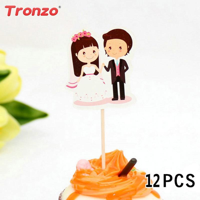 Best Tronzo Cute Wedding Cake Topper Kawaii Bridegroom Bride Cupcake ...
