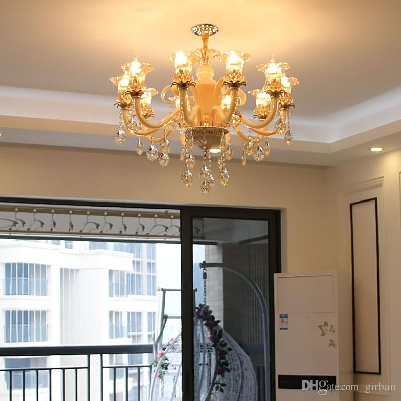 Longree 2017 New Popular Round with 10 lights flower lamp design crystal stairs chandelier light chandeliers prices in china