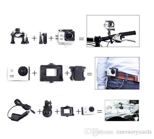 2018 뜨거운 sellSJ4000 스포츠 카메라 SJ 4000 1080P 2 인치 LCD 풀 HD 30M 스포츠 DV 기록 자전거 스케이트 레코드