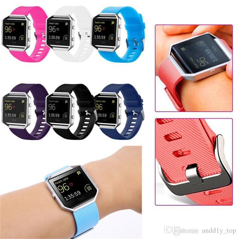 Replacement strap for Fitbit Blaze bracelet New High Quality S/L Size 14 Colors Soft Silicone Watch Band Wrist Strap Smart Watch