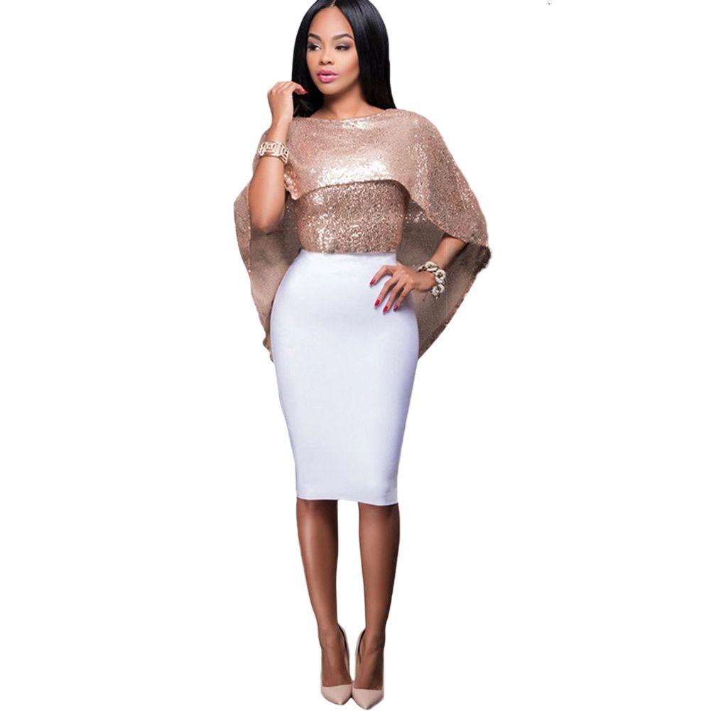 42ecd41ec69 Acheter Sexy Femmes Sequin Crop Top Hipster Étincelle T Shirt Femme  Paillettes O Cou Dos Nu Zipper Party Bling Haut Brillant Rose   Or   Noir  De  29.75 Du ...